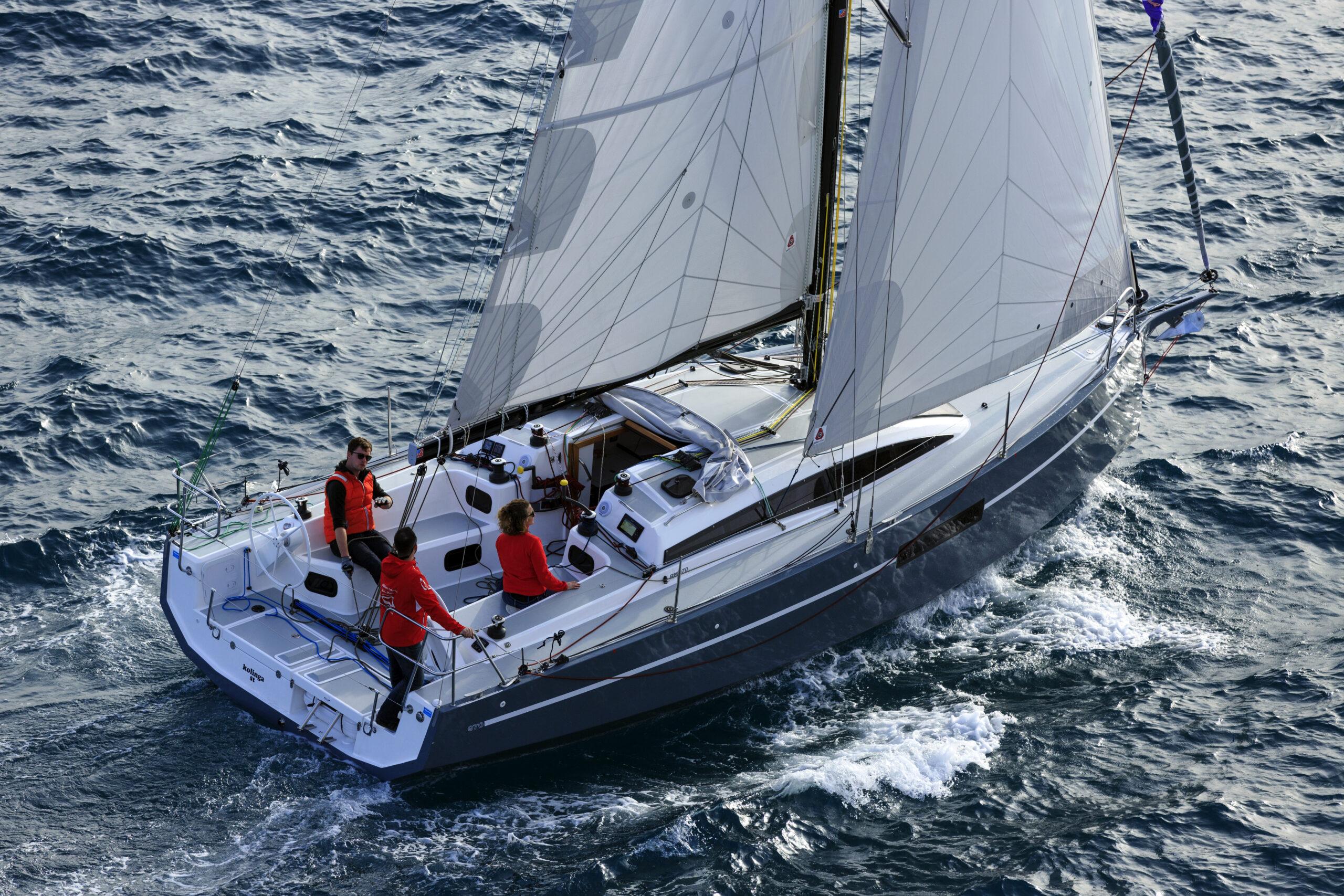 Jeanneau Sun Odyssey 380 at anchor