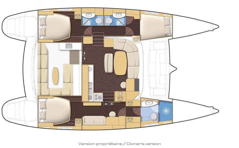 on Lagoon 440 Catamaran Layout