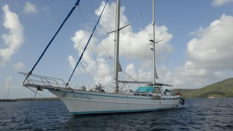 Contour Yachts LTD Ketch Contour Yachts :  At anchor in Martinique