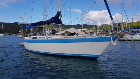Hood 38: At anchorage in Martinique