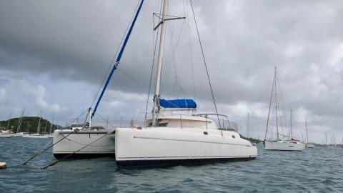 Fountaine Pajot Athena 38 : At anchor in Martinique