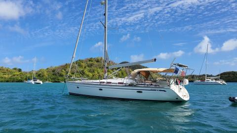 Bavaria 46 Cruiser: At anchor in Martinique