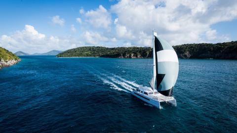 Catana 59 : Navigating under spinnaker