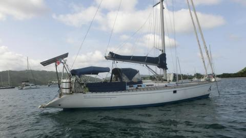First 456: At anchor in Martinique