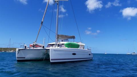 Fountaine Pajot Lipari 41 Maestro : At anchor in Martinique