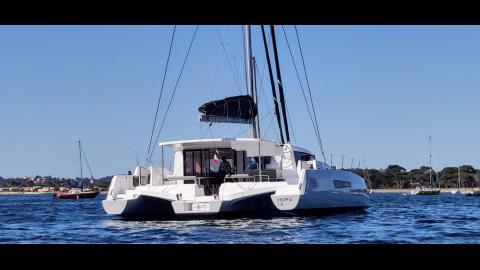 Neel Trimaran NEEL 47 : At anchor