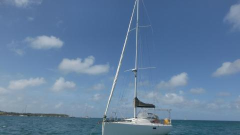 Structures Pogo 10.50 : At anchor in Martinique