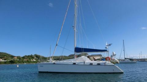 Privilege 48: At anchor in Martinique