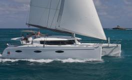Fountaine Pajot Sanya 57 navigating