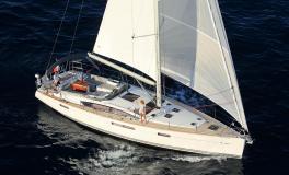 Jeanneau 58 : Navigating starbaord tack under gennaker