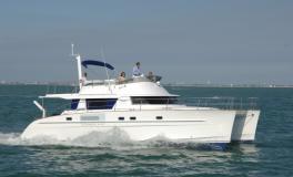 Trawler Catamarans Cumberland 46 navigating