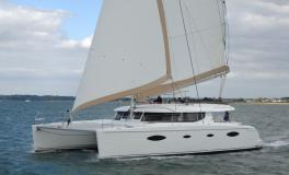 Fountaine Pajot Salina 48 Evolution navigating