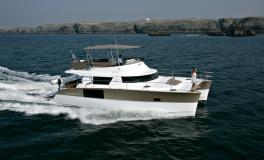 Fountaine Pajot Motor Yachts Cumberland 47 LC navigating