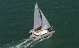 Neel Trimarans Neel 65 evolution: Navigating under genoa