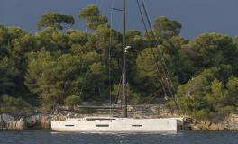 Dufour 56 Exclusive at anchor