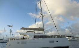 Lagoon 400:Le Marin anchorage in Martinique