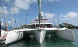 NEEL-TRIMARANS NEEL 47 : At the pontoon in Martinique
