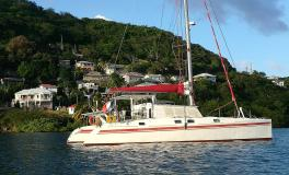 Gerard Danson design :At anchor in the Caribbean