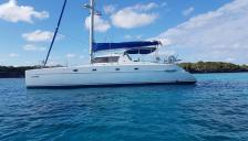 Fountaine Pajot Belize 43 : At anchorage in caribbean