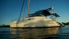 Athena 38 : At anchor in the Caribbean