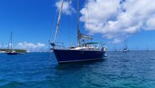 Kirie Feeling 446 : At anchor in Martinique