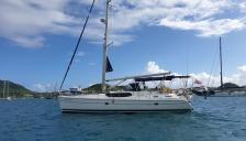 Hunter 45 CC: Le Marin anchorage in Martinique