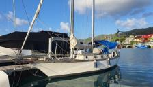 Staempfli Marjolaine 35 : At pontoon in Martinique