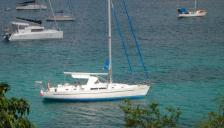 Oceanis 44 CC: At anchor in Caraïbes