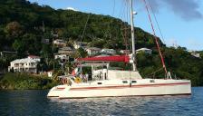 Gerard Danson design :At anchor in the Caribbean