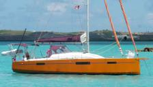 RM 1070: At anchor in Caribbean