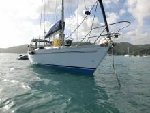 Sun Fizz : At anchor in Martinique