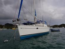 Sun Odyssey 40 DS: At anchorage in Martinique