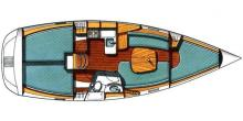 Oceanis 331 Clipper: Boat layout