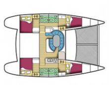 Lagoon 410 S2 : Boat layout