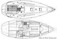 First 35 : Deck and boat layout