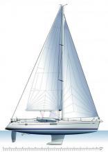 Sun Odyssey 50 DS : Sails plan