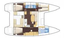 Lagoon 400: Boat layout