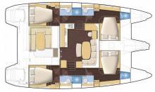 Lagoon 421: Boat layout