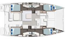 Leopard 45 :  Boat layout