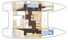 Lagoon 400 3 cabines : Boat layout