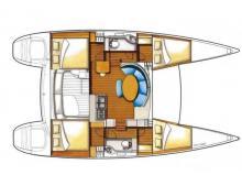 Lagoon 380 : Boat layout
