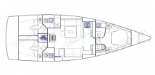 Dufour 500 Grand'Large: Boat layout