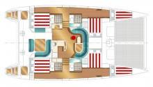 Nautitech 47: Boat layout