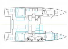 Nautitech 46 Open : Boat layout