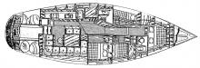 Dynamique 52: Boat layout