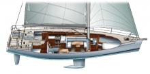 Dufour 45 E Performance : Boat layout