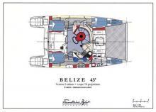 Belize 43 Maestro : Boat layout