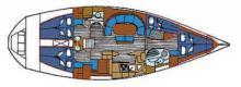 Feeling 446 : Boat layout