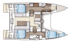 Nautitech 40 Open: Boat layout