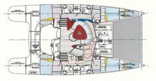 Fountaine Pajot Bahia 46: Boat layout